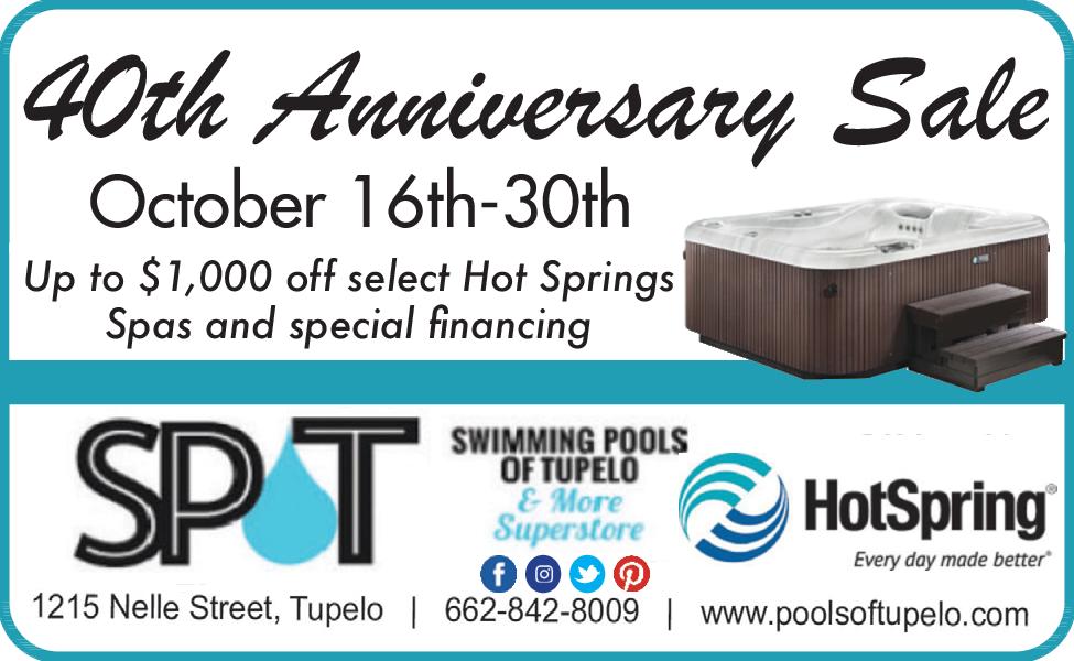 Fortieth Anniversary Sale in Tupelo, MS, Swimming Pools ...