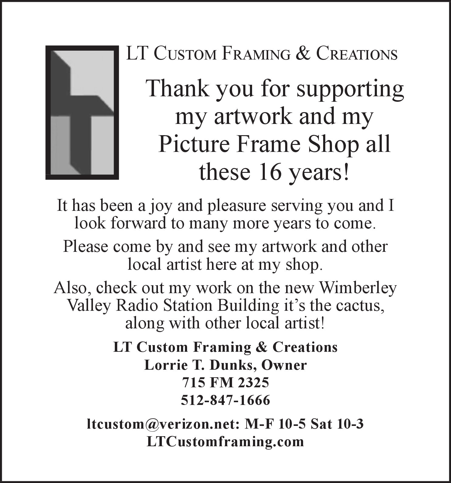 Best Framing & Creations Shop in Wimberley, TX, Picture Frames ...