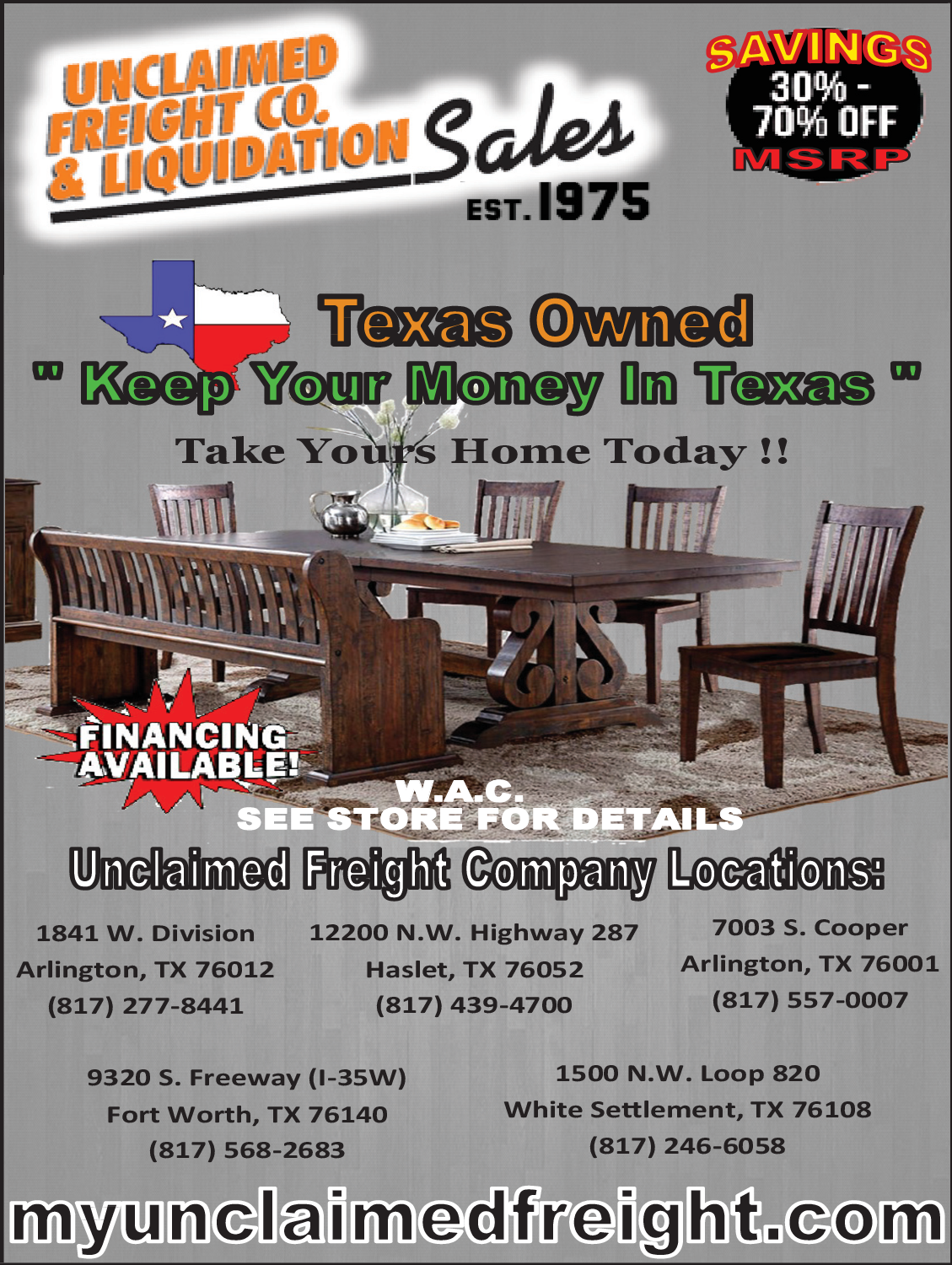 Saving 30 To 70 Off For Furniture In Haslet Tx Furniture