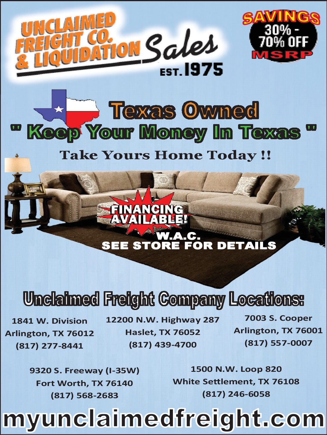 Saving 30 To 70 Off For Furniture S In Haslet Tx Furniture