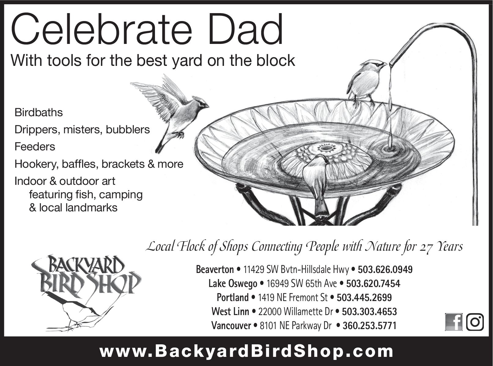 Birdbaths U0026 Feeders, Indoor U0026 Outdoor Art In Beaverton, OR, Pet Stores   Backyard  Bird Shop