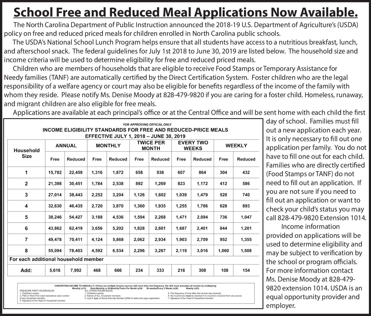 School Free And Reduced Meal Applications Now Available In Raleigh NC Government