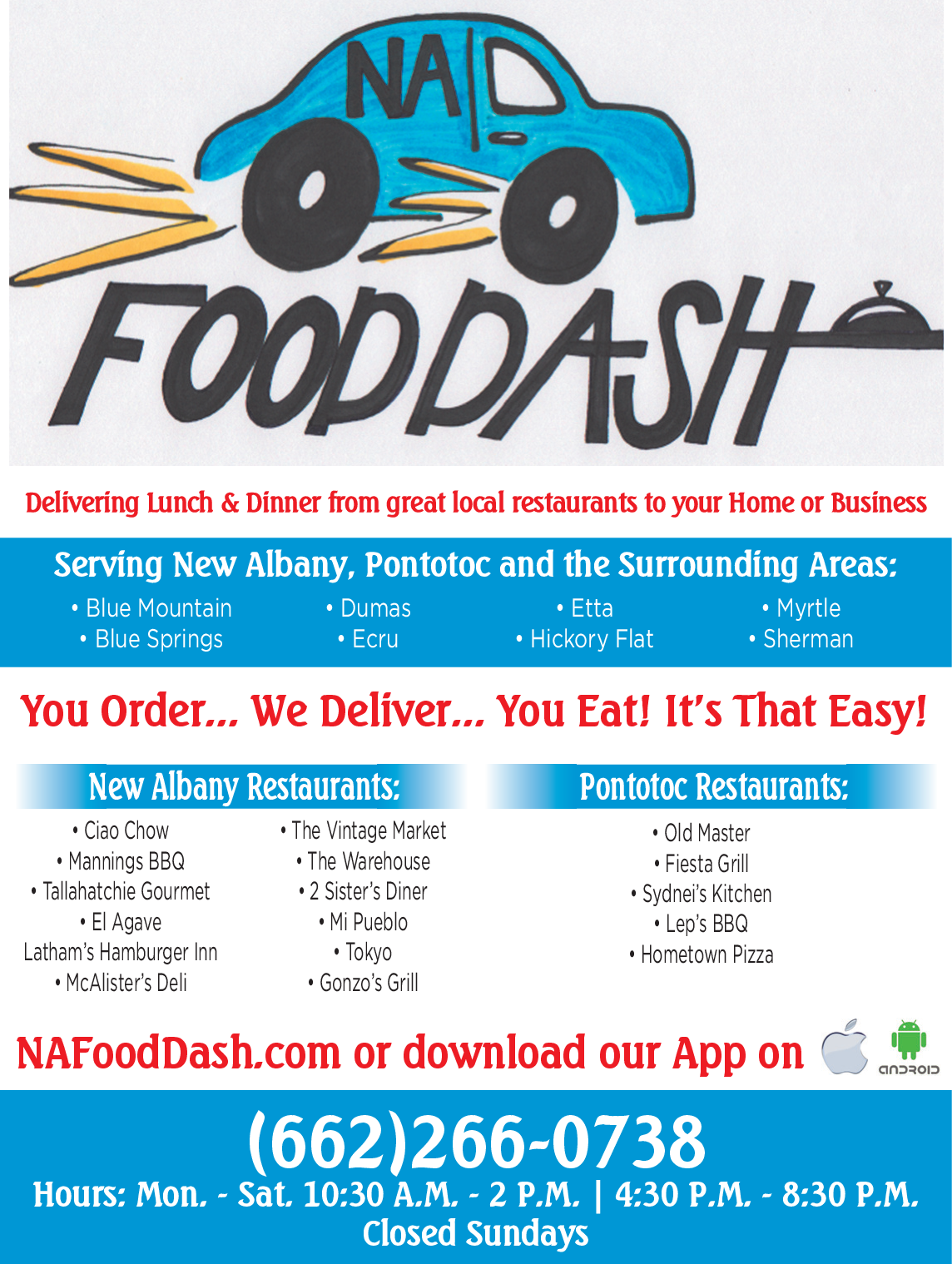 Delivering Lunch Dinner In New Albany Ms Restaurants Na Food