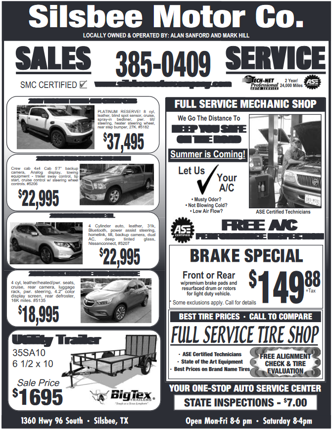 Silsbee Motor Company >> Sale On Smc Certified Vehicles In Silsbee Tx New Cars