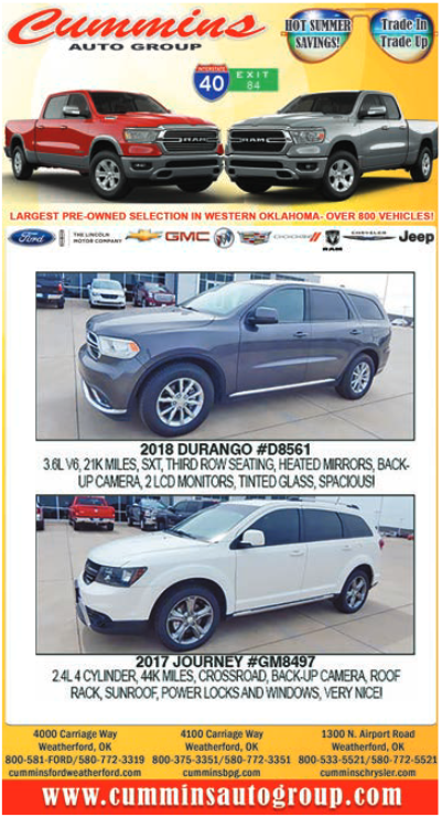 Hot Summer Savings On Cars in Weatherford, OK, Auto
