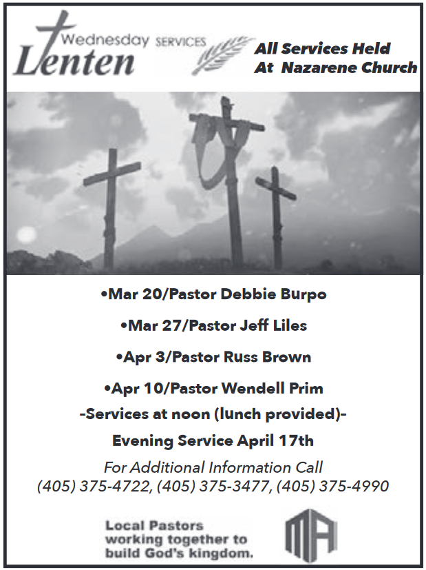 School & Evening Services in Kingfisher, OK, Churches