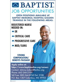 Great Job Opportunities in Columbus, MS, Medical Care